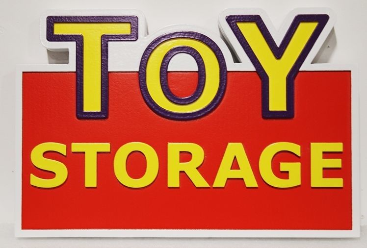 S28188 - Carved 2.5-D HDU Sign for the Toy Storage Store