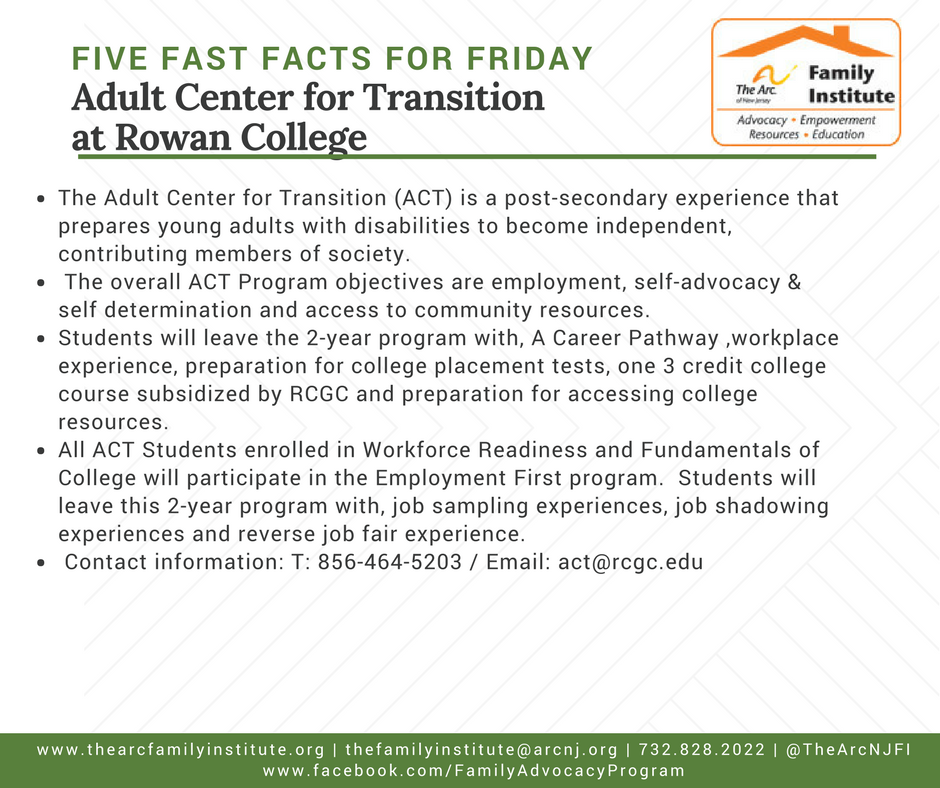 Adult Center for Transition at Rowan College