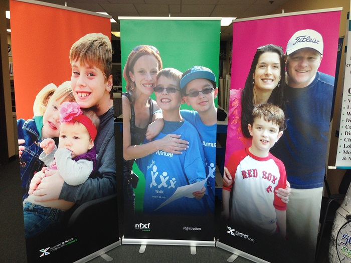 Wall of Retractable Banners