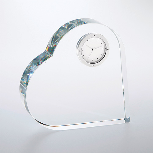 TM Crystal Heart Keepsake Clock