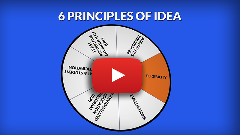 Link to youtube video 6 Principles of IDEA: Eligibility