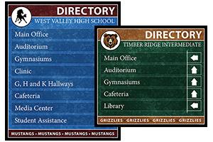 School Directory Boards