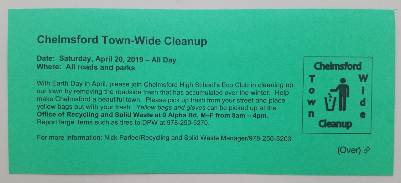 Chelmsford Town Wide Cleanup