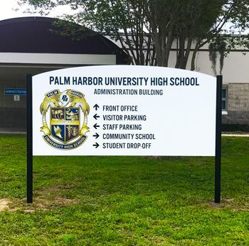 Post and Panel Campus Directional Sign
