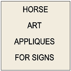 P25800 - Samples of 3D Carved Art Appliques for Equine & Equestrian Signs