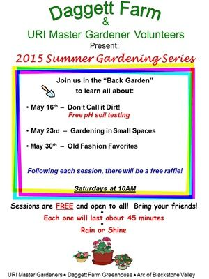 Daggett Farm Greenhouse To Host Summer Gardening Series