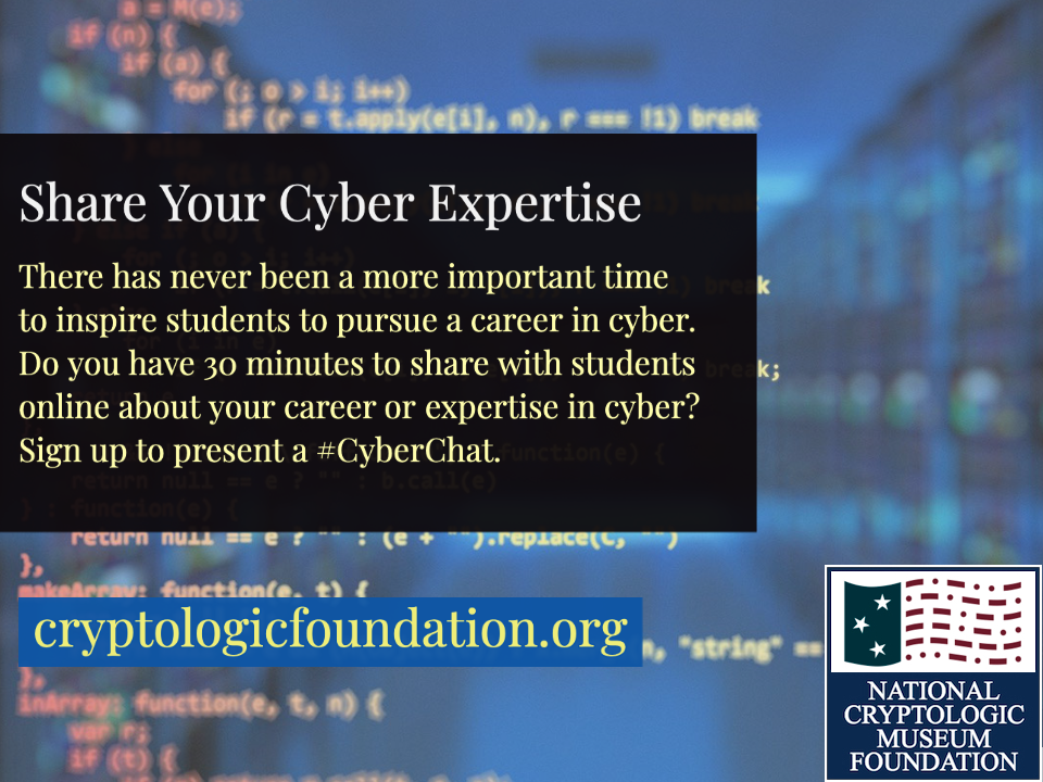 Seeking #CyberChat Presenters for 2021
