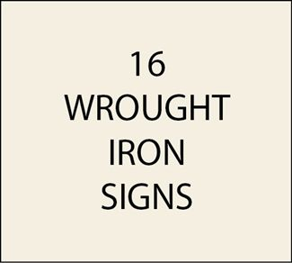 O24980 - Western Wrought Iron, Steel and Aluminum Signs