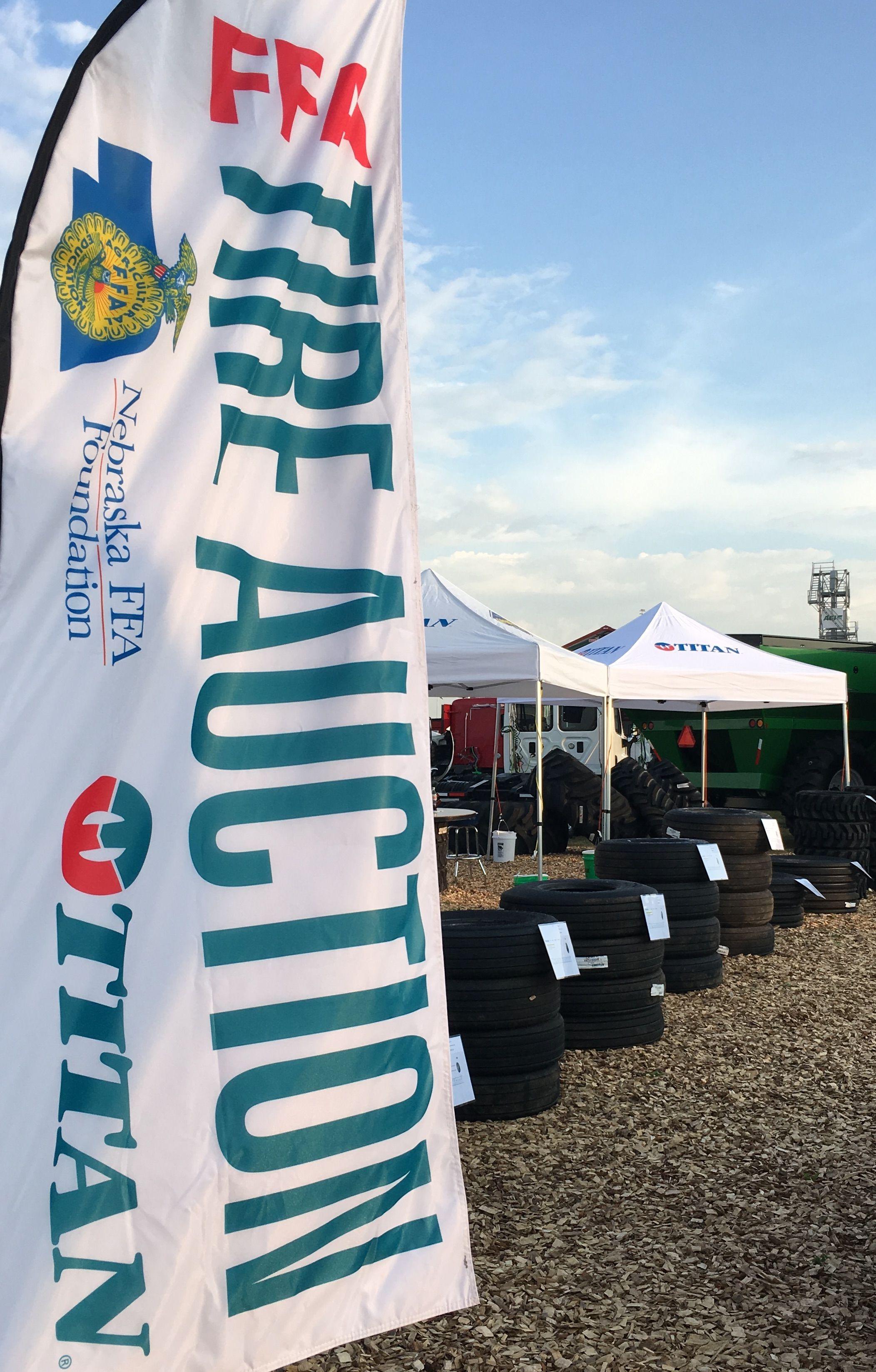 Nebraska FFA Foundation Auction includes tires and John Deere gator
