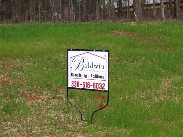 Baldwin Custom Homes, Inc. - Aluminum Sign with Frame