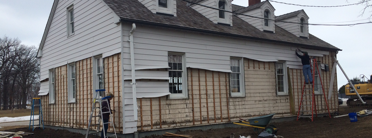 Equipment Building - Ripping off the siding