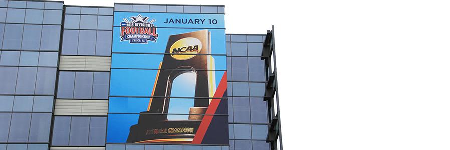 NCAA Building Wrap