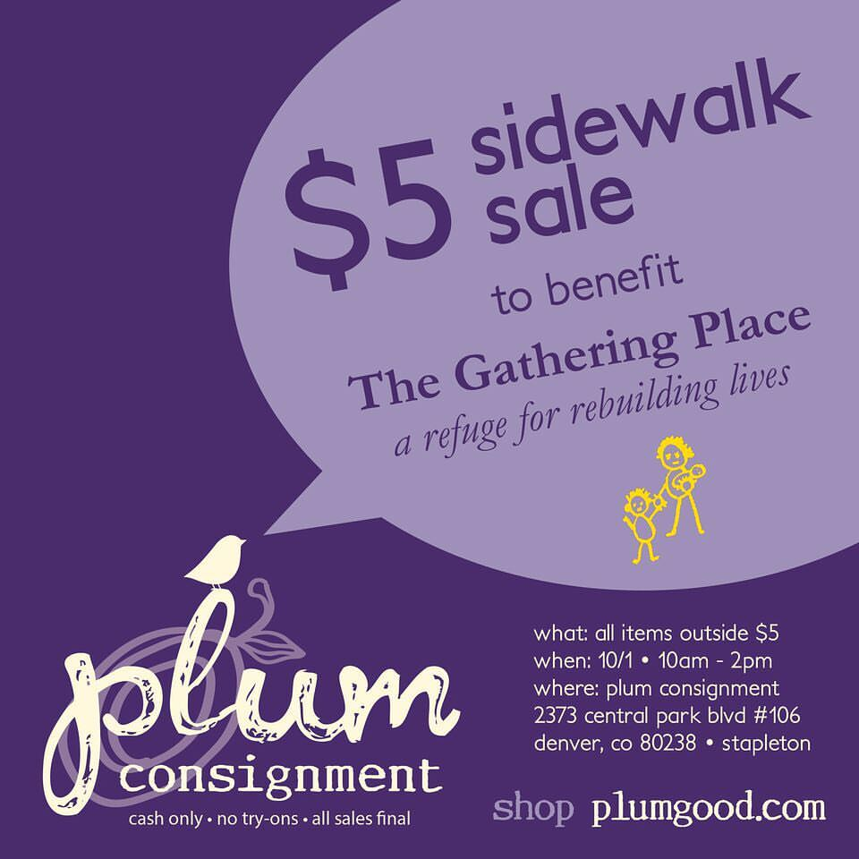 Plum Pop-up: $5 Sidewalk Sale benefiting TGP