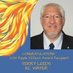 Terry Leeds Recipient of Blue River Watershed Association (BRWA) Ripple Effect Award