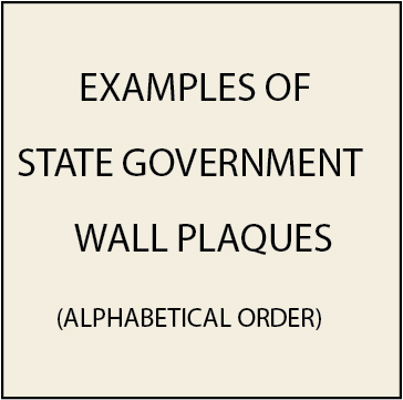 W32009 - Examples of State Government Seal Wall Plaques