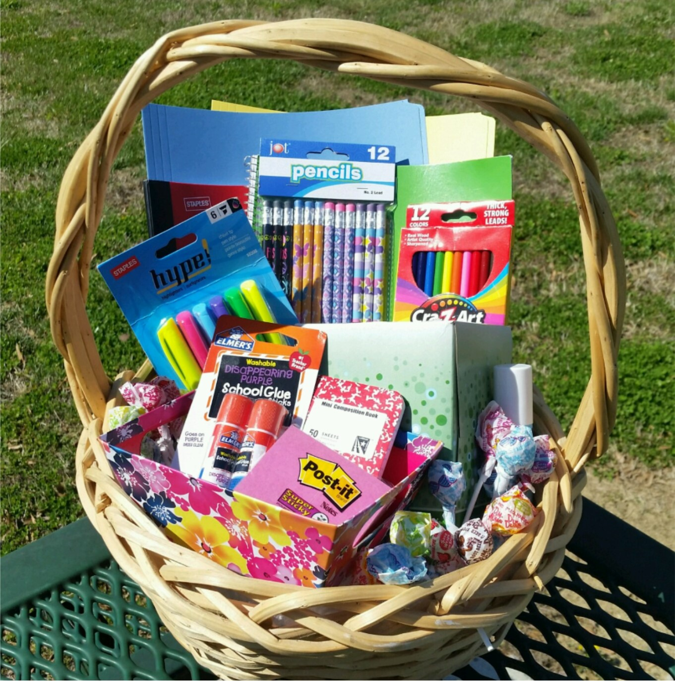 Small Classroom Supply Basket