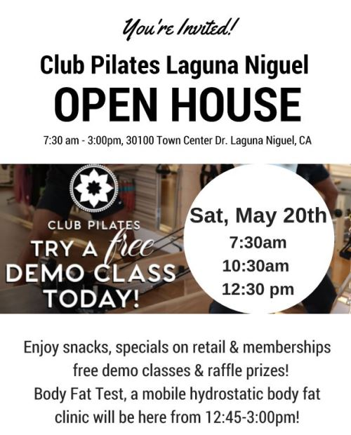 Club Pilates Open House
