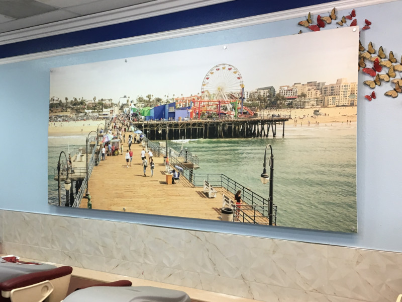 Custom designed wall murals for salons in Los Angeles CA