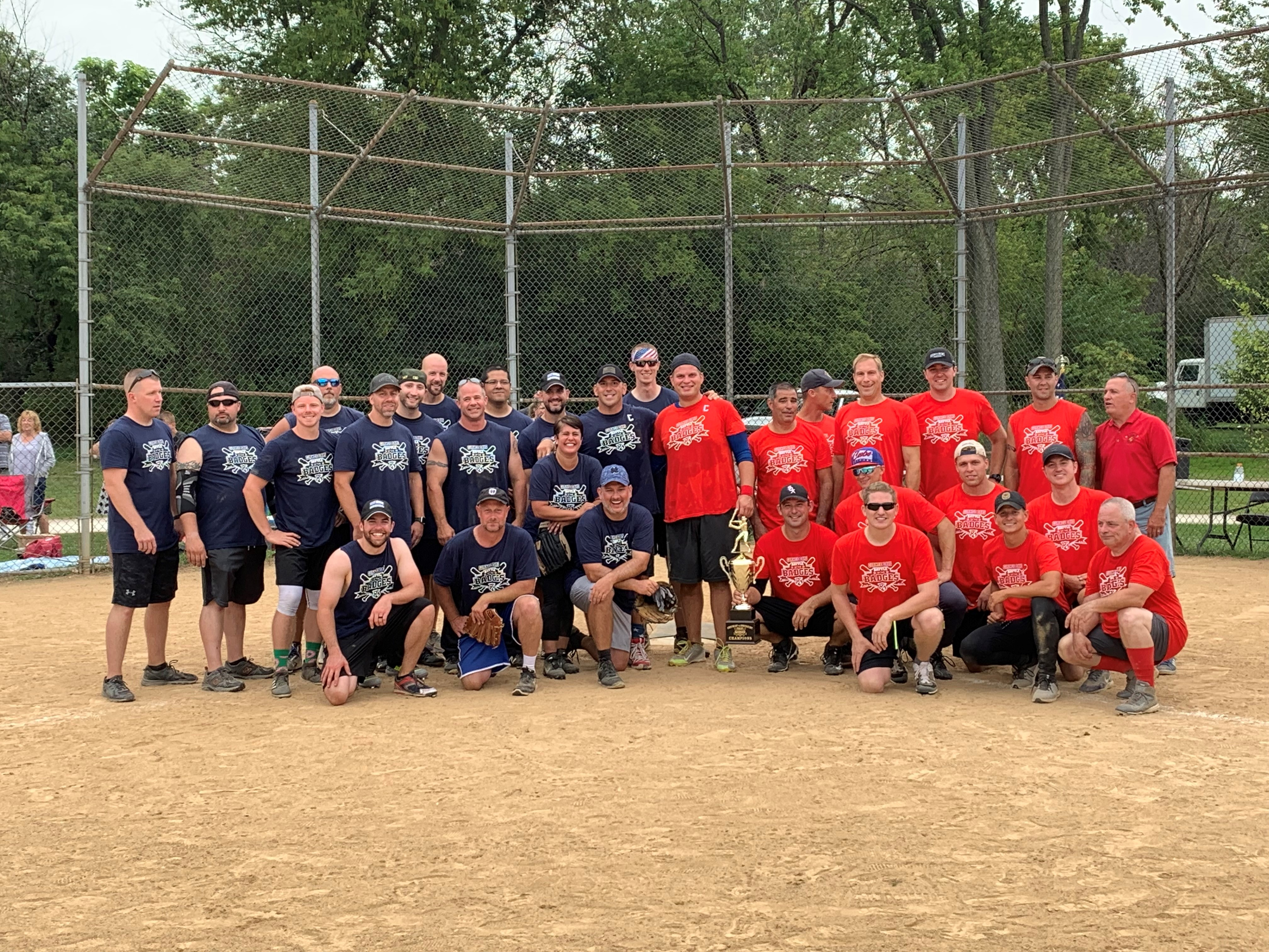 Battle of the Badges Softball Game Results