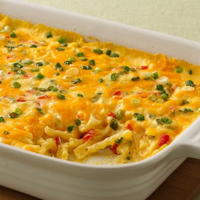 Cheesy Julienne Potatoes