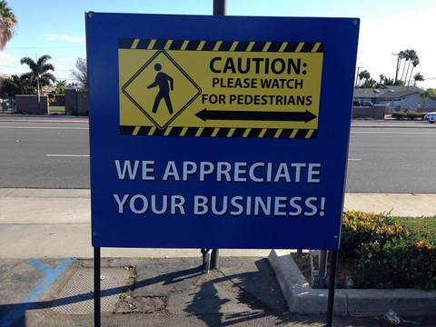Safety signs for car dealers in Orange County