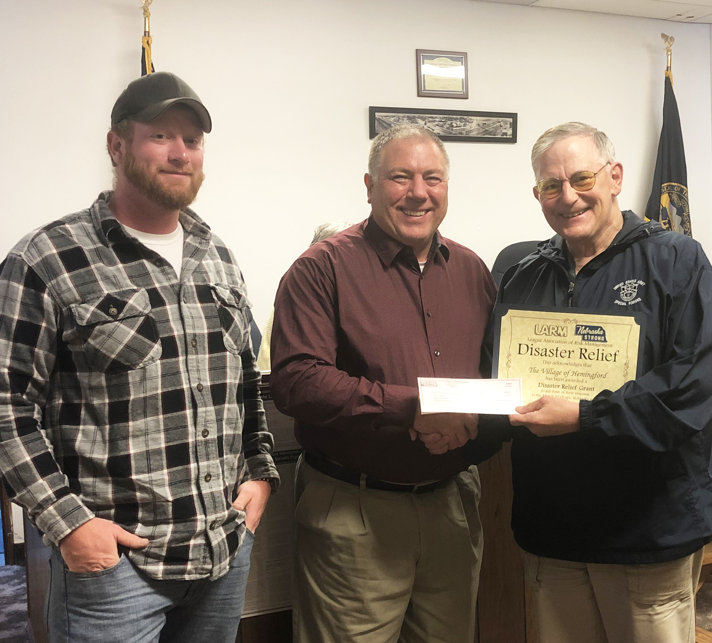 Village of Hemingford receives $500