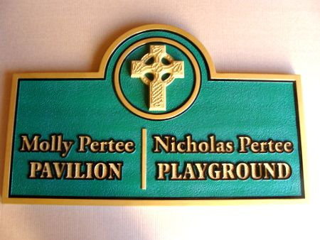 FA15817 - Carved Wood Playground Sign