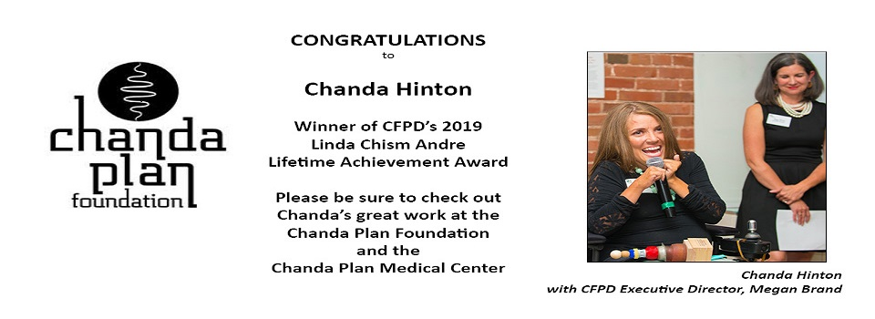 Chanda Hinton, Winner of CFPD's 2019 Linda Chism Andre Lifetime Trailblazer Award