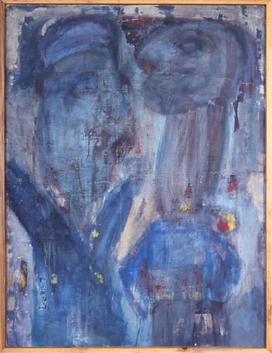 """The Argument, Acrylic Paint, 47"""" x 35"""""""