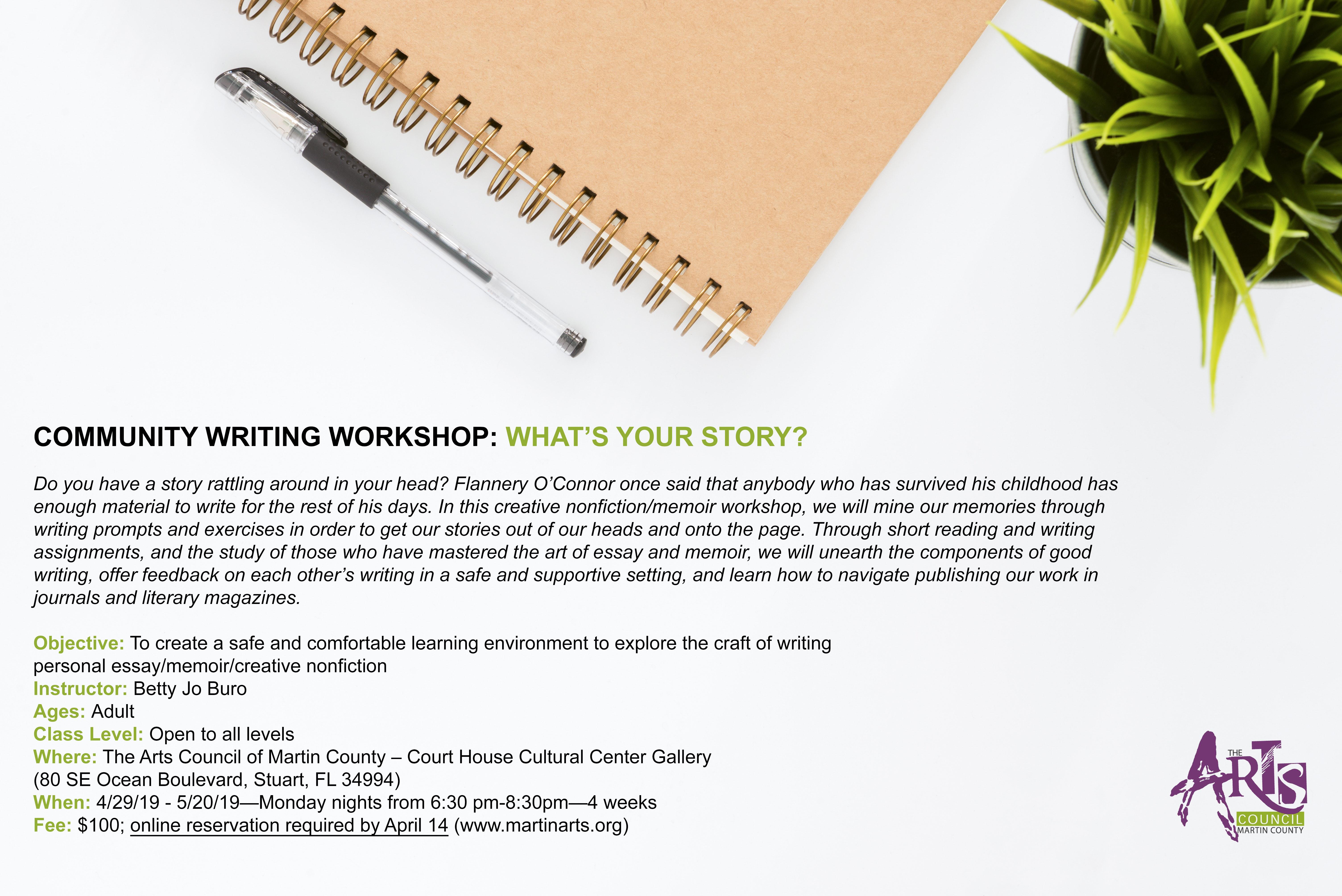 COMMUNITY WRITING WORKSHOP