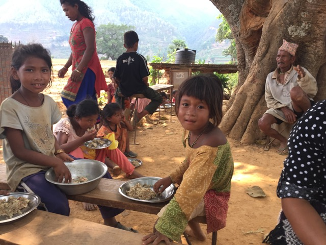 Food nourishes Nepal earthquake victims