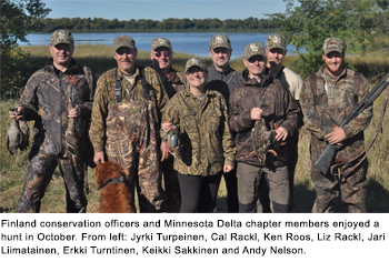Minnesota Chapter Hosts Hunt for Finland Conservation Officers