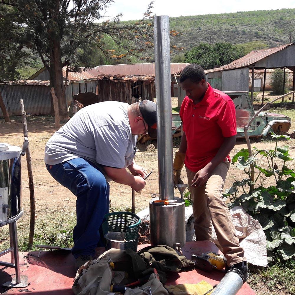 Chris Beaty Helps Salama Stoves
