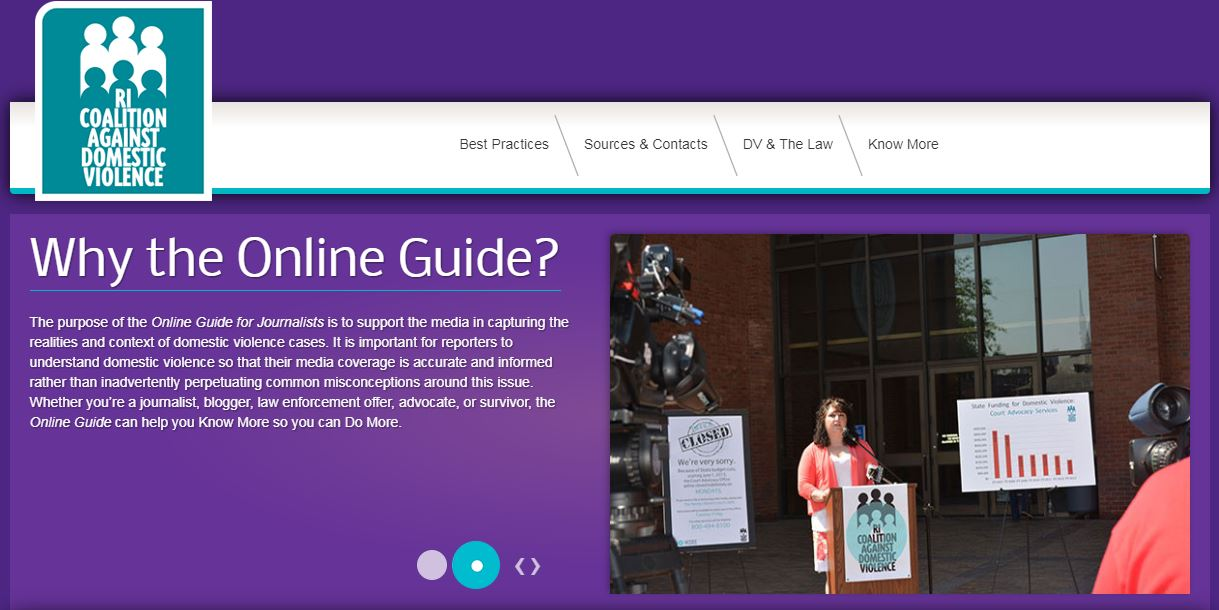 RICADV: Online Guide for Journalists