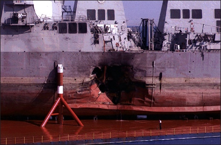 2000: al-Qaeda Bomed the USS Cole