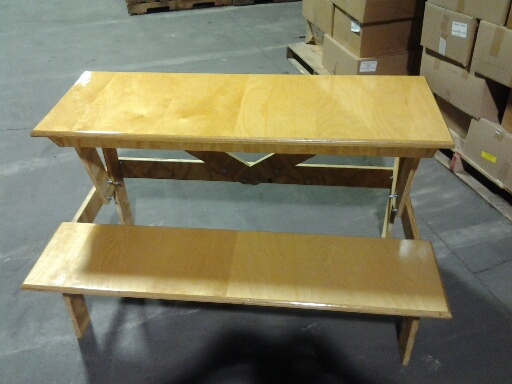 Handcrafted desks are donated
