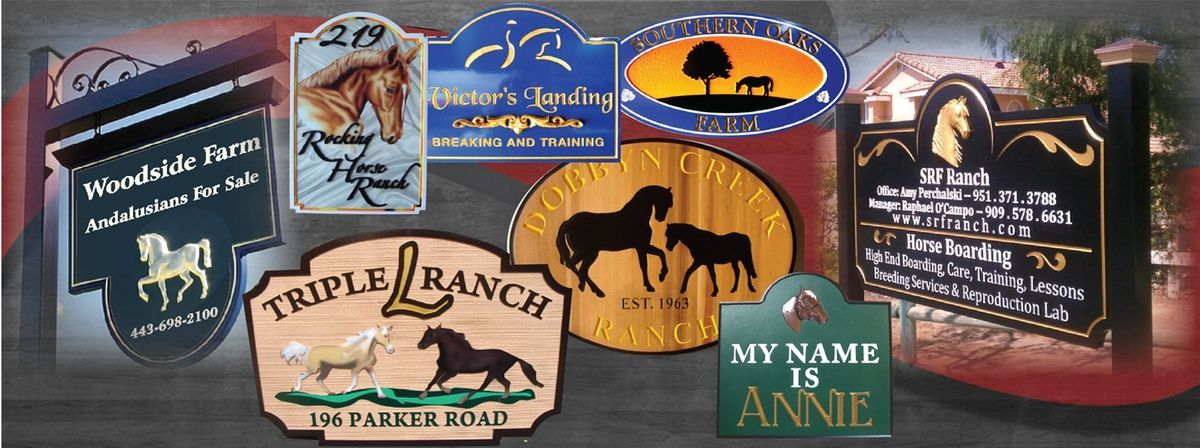 Horse ranch sign