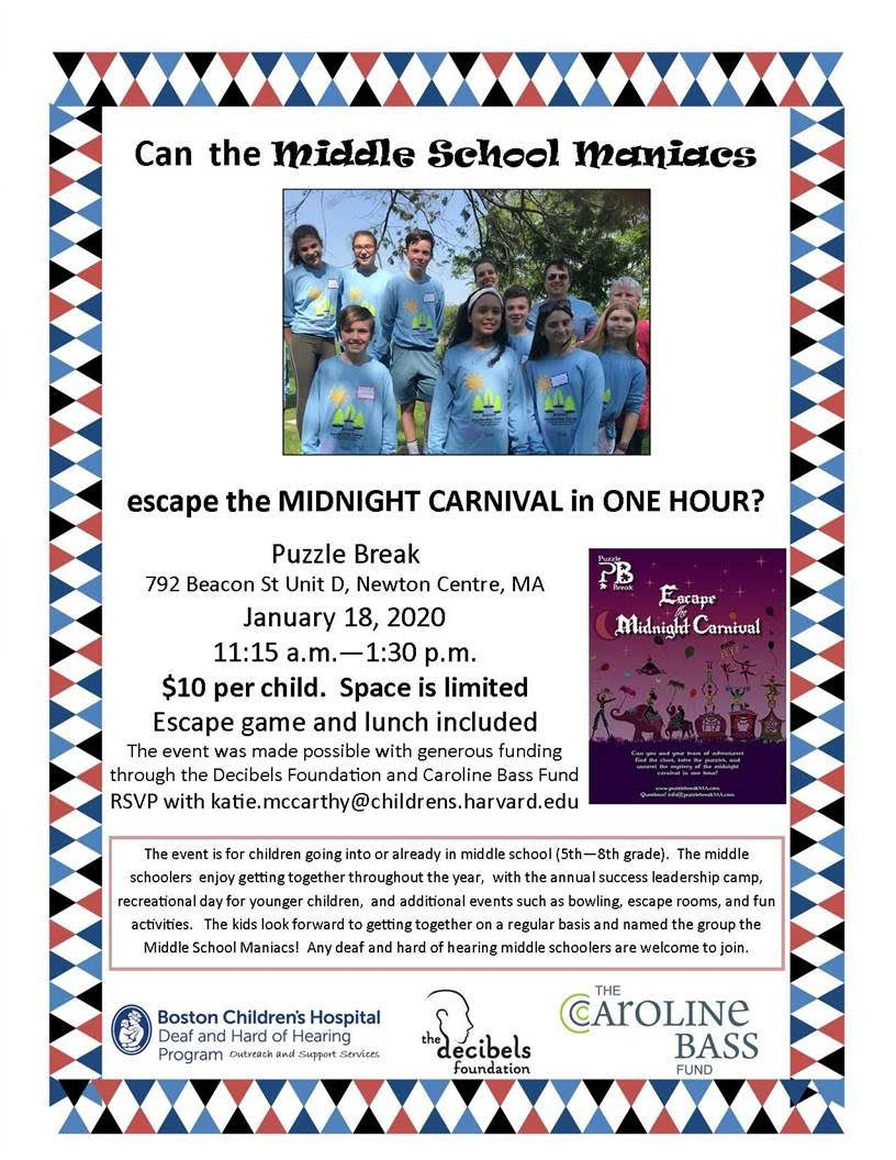 Event for Middle Schoolers