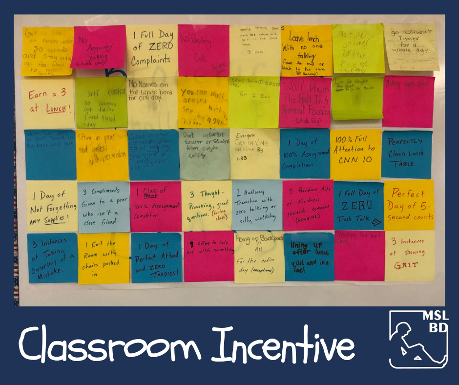 Classroom Incentive