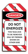 Do Not Energize Lockout Tag