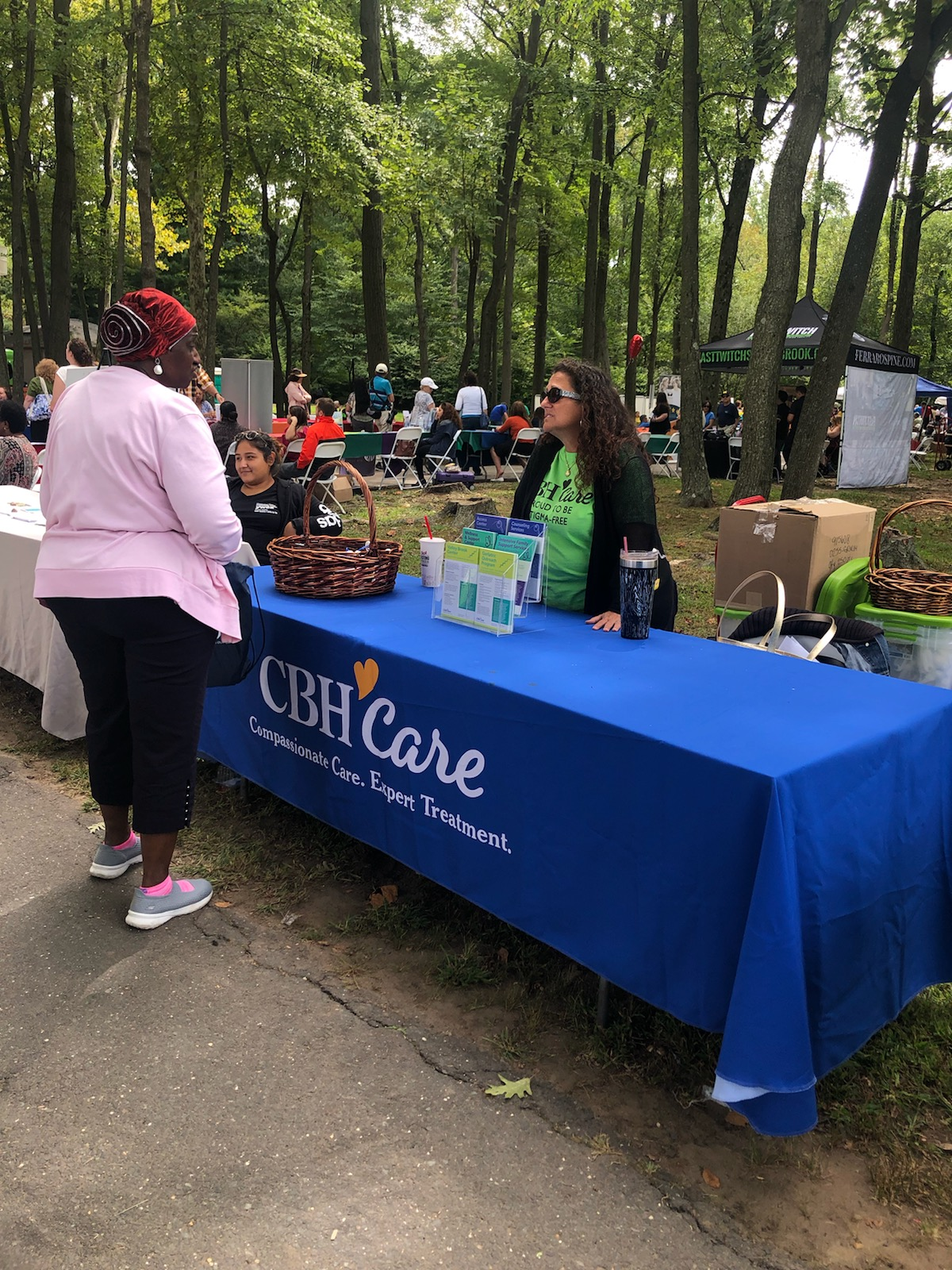 CBH Care Tables at Bergen County Annual Senior Citizens Picnic