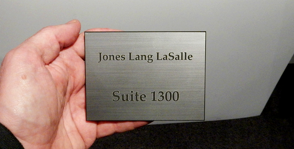 Engraved Silver Plastic