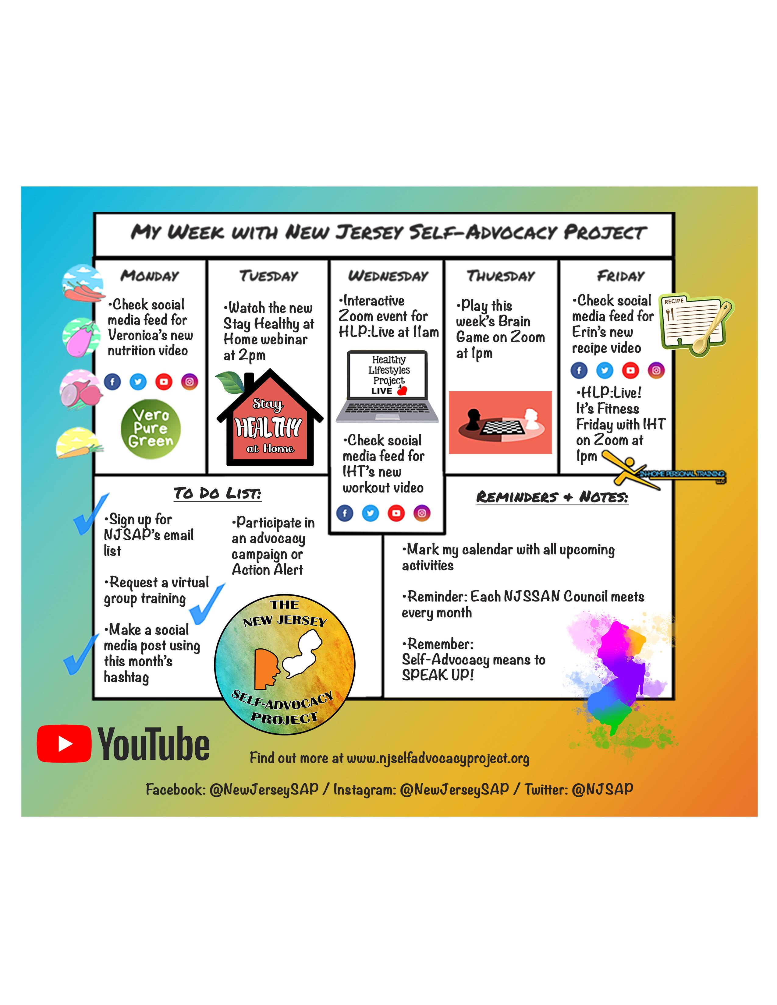 NJSAP Virtual Activities
