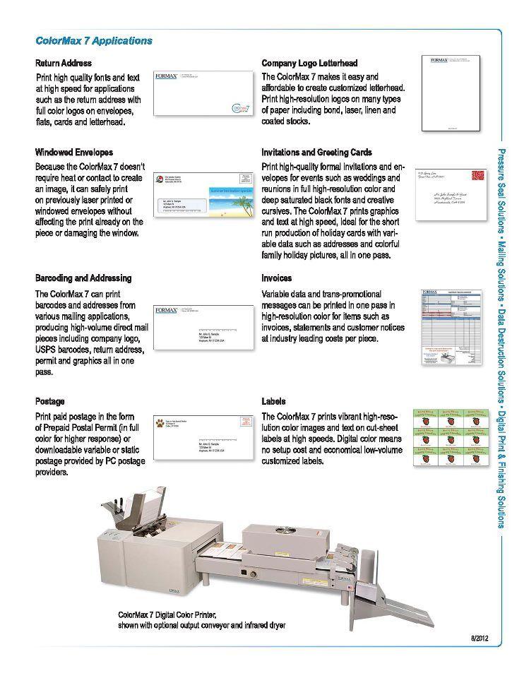 Colormax 7 - Envelope press