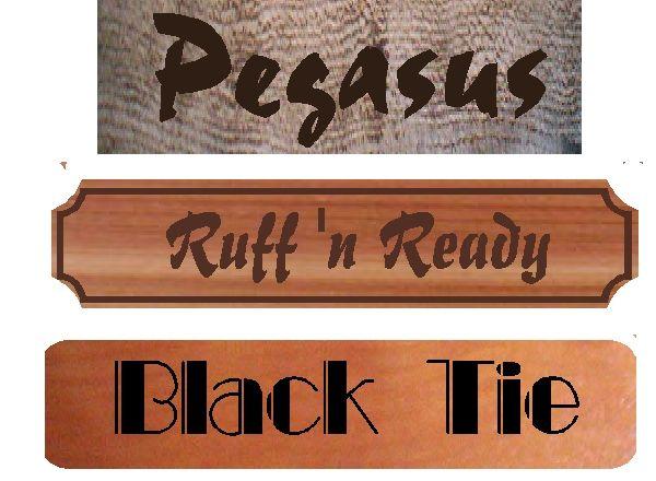 P25411 - Vintage Carved Wood (Barnwood, Cedar, and Redwood) Stall Signs