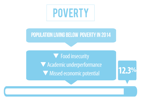 14 percent of the population in Buffalo County Nebraska is living below the poverty line