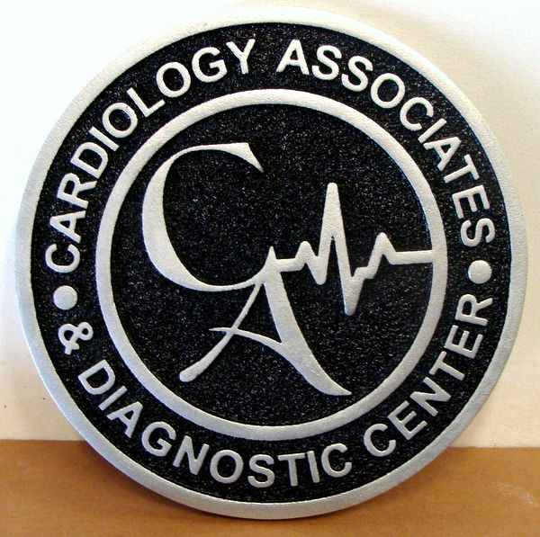 B11081- Carved and Sandblasted HDU Sign for Cardiology Diagnostic Center