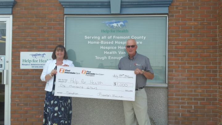 Donation from First Interstate Bank