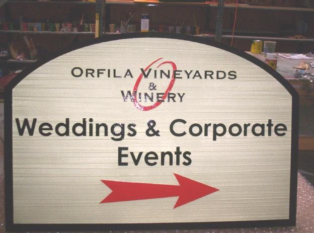 R27050 - Orfila Vineyards Wayfinding Sign