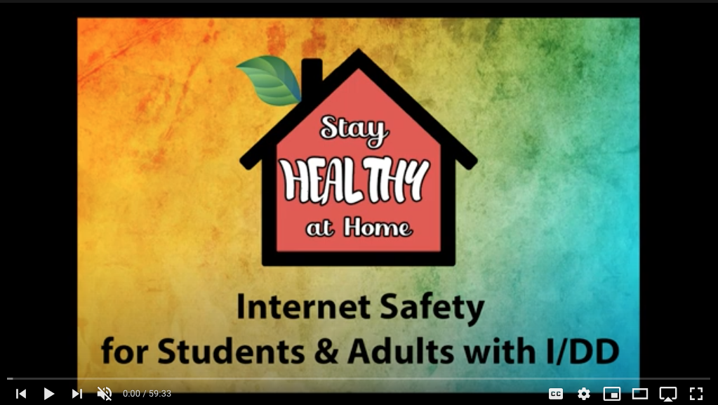 WEBINAR: Internet Safety for Students and Adults with IDD